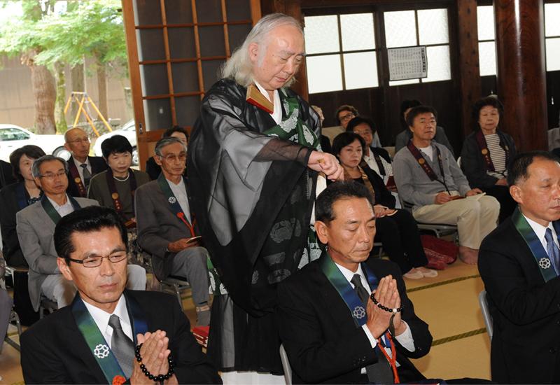 浄照寺で帰敬式が執行されました