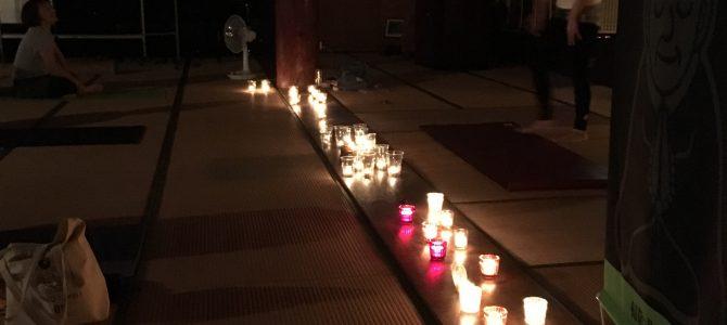 9月の寺ヨガ(キャンドルヨガ)